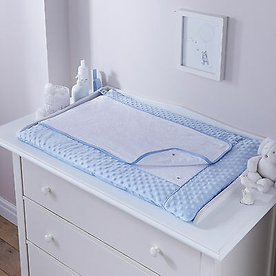 New Clair De Lune Dimple Blue Padded Baby Boys Changing Mat With Cover