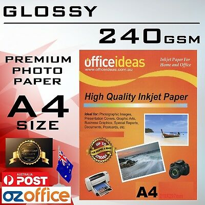 240GSM A4 High Glossy Photo Paper for Canon Epson HP Xerox Inkjet Laser Printer