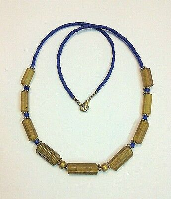 Afghan Tiny Seed Mini Lapis Lazuli & Roman Glass Beads Necklace Antique Ancient