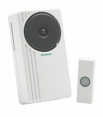 Siemens Portable Door Bell Chime Kit Real Bell Sound Wireless DCWF20 RRP: £31.98