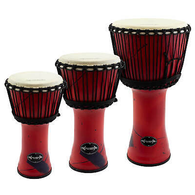 Djmebe Drum by World Rhythm -  Synthetic, Red, African Style