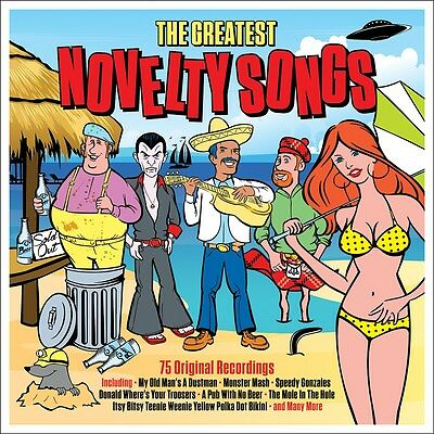 Greatest Novelty Songs VARIOUS ARTISTS Best Of 75 Original Recordings NEW 3 CD