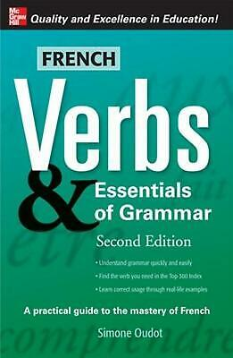 French Verbs & Essentials of Grammar by Simone Oudot (English) Paperback Book Fr