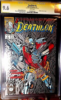 Deathlok #1 CGC 9.6 SS J. August Richards Agents of Shield (Jul 1991, Marvel)