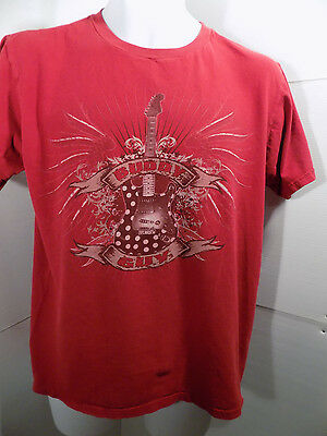Buddy Guy 2010 Concert Tour 2 Sided T Shirt Size Medium Red