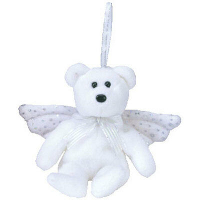 TY Jingle Beanie Baby - HERALD the Angel Bear (5 inch) - MWMT's Ornament