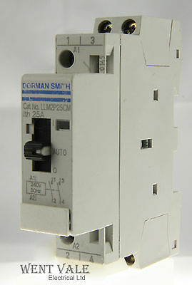 Dorman Smith LLM2P25CM 25a Double Pole Normally Open Contactor 240v Coil Unused