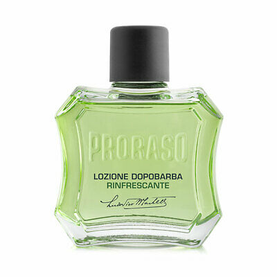 Proraso Aftershave Lotion with Eucalyptus and Menthol Green 100ml bottle
