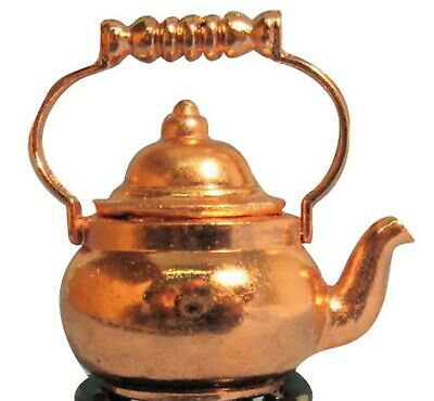 1:12 Scale Copper Kettle Dolls House Miniature Kitchen Drink Water Accessory L67