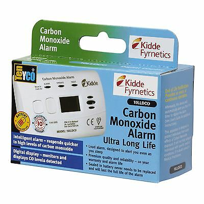Kidde 10LLDCO DIGITAL 10 YR Carbon Monoxide Alarm DETECTOR with Lithium Battery