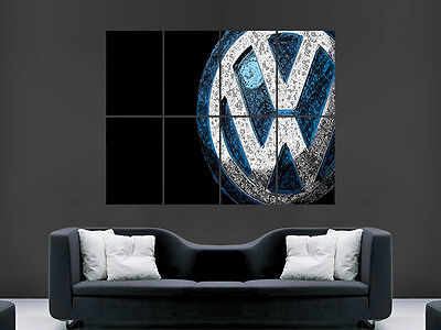 Vw Volkswagon Abstract Art Image Huge  Large Picture Poster Giant