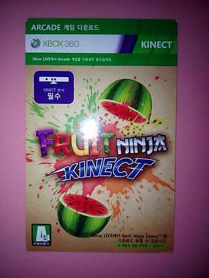 Fruit Ninja Kinect Download Card / Code  Full Game for Xbox 360 Not Disc Version
