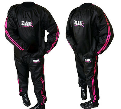 RAD™Sauna Sweat Suit Exercise Gym TrackSuit Fitness Weight Loss Pink New