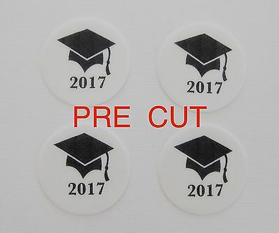 Pre Cut 12 2016 Edible Rice Paper Wafer Card Graduation Cake Cupcake Toppers