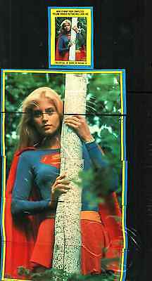 1984  TOPPS SUPERGIRL COMPLETE STICKER SET OF 44 TRADING CARDS.