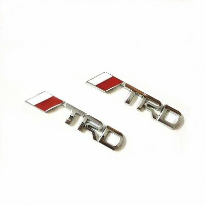 pair for Toyota TRD emblem badge sticker side chrome decal Camry Corolla Yaris