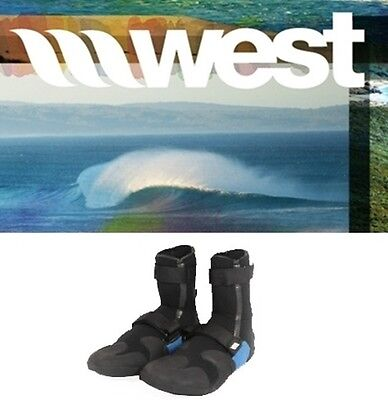 NEW West Surfing 8mm Neoprene Booties Mens Youth 5 Womens 6 surf dive Msrp$70