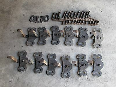 Vintage Cast Iron 12-  Roof SNOWBIRDS w/ 1 broken Snowbird & 13 extra Brackets