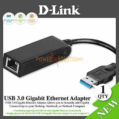 D-Link DUB-1312 USB 3.0 to Gigabit Ethernet Adapter DUB-1312 Windows Mac Linux