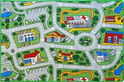 CITY ROADS Kids Rug 5 SIZES  Children Car Play Mat Street Tracks FREE DELIVERY