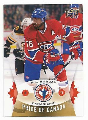 14-15 Upper Deck UD P.K. PK Subban #5 NHCD National Hockey Card Day Mint