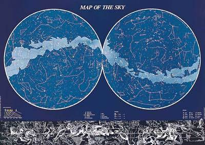 Educational - Bildung Map of the Sky Himmel Poster - Grösse 98x68 cm