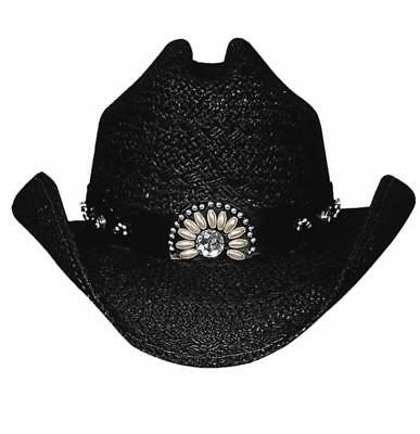 c86f9a2016d70 NEW Bullhide Hats 2223Bl Sassy Cowgirl Collection Itchygoonie Black Cowboy  Hat