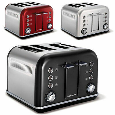 Morphy Richards Chrome Accents 4 Slice Toaster Stainless Steel Body/Metallic