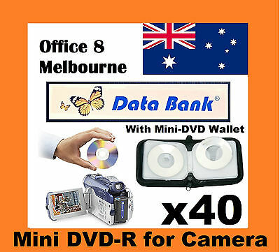 BRAND NEW Mini DVD Storage Wallet Optional 40 Databank DVD Handycam Camcorder