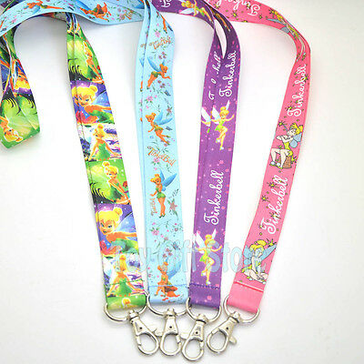 Cute Tinkerbell Fairy Lanyard Keys ID Neck Strap