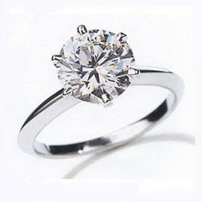 Dazzling Bargain Diamond 18ct White Gold Solitaire Engagement Ring SI 1.25 Carat