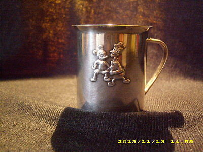 Tasse Becher Mickey & Donald versilbert Wilkens - Trinkbecher - Kinderbecher
