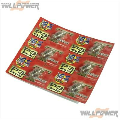 O.S. OS Glow Plug P3 Ultra Hot Turbo 6 pcs (RC-WillPower)