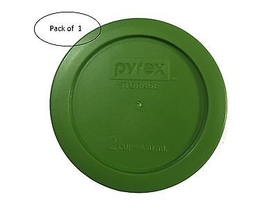 Pyrex Storage Green Plastic Replacement Lid Cover 2 Cup Bowl 7200-PC