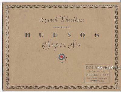 "Vintage Hudson - Hudson Super-Six 127"" Wheelbase Colored Brochure or Pamphlet"