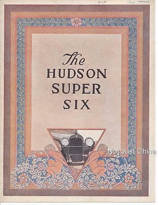 Vintage Hudson 1924 - The Hudson Super Six  Colored Brochure or Pamphlet