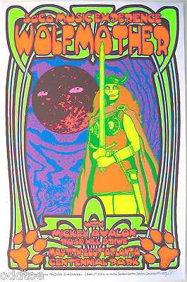 WOLFMOTHER- Original Signed 2007 Concert Poster by Lindsey Kuhn, valkerie, sword