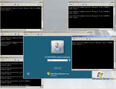 Cisco CCNP CCIE Voice VMWare 5 CUCM 11 CUPS UCCX 11 WITH DELL 1950 SERVER