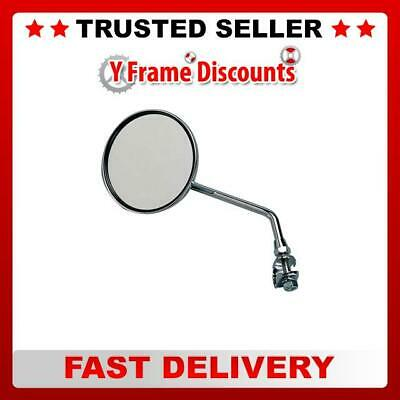 Raleigh Bikes Round Chrome Universal Bicycle Mirror Silver , Handlebar Mounted