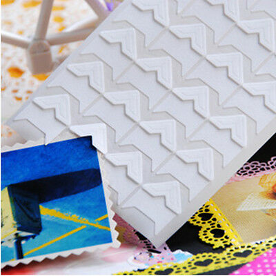 Hot 24 Pcs Retro Kraft Corner Stickers Picture Handmade Album Photo Good DIY CN