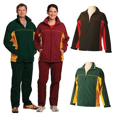 Unisex Mens Womens Adults Sports Casual Jacket Coat Tracksuit Work Training Top