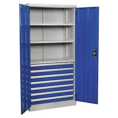 Sealey Industrial Garage Storage Cabinet - 7 Drawer 3 Shelf 1800mm - APICCOMBO7