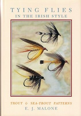 MALONE TED FISHING BOOK TYING FLIES IN THE IRISH STYLE SEATROUT 1st edn scarce