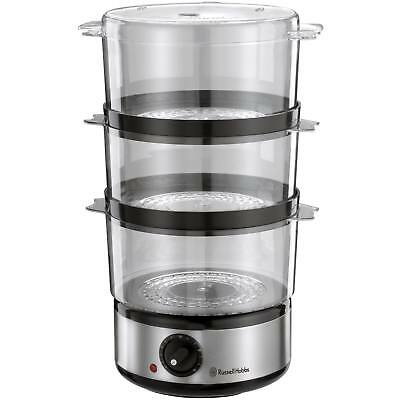 Russell Hobbs 14453 Food Collection 3 Tier 7L Steamer Brushed Stainless Steel