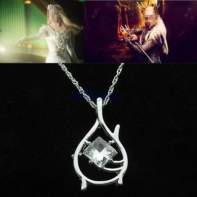 Film Lord of Ring Hobbit The Desolation of Smaug Tauriel Pendant Chain Necklace