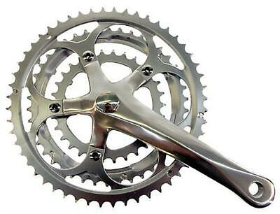 Silver Triple Steel / Alloy Road Chainset 30/42/52 x 170mm