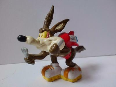 Vintage Warner Bros Wile E Coyote PVC Acme Rocket Cake Topper 1980s
