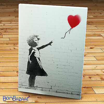 Quadro in Tela Canvas BANKSY Balloon Girl Pronta da appendere Arte Arredo Casa