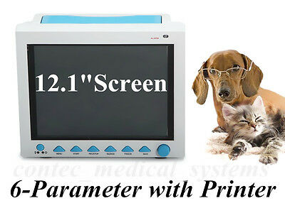 """CONTEC CMS8000 12""""LCD 6Parameter VET Veterinary ICU Patient Monitor with Printer"""