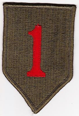 """Original U.s. Army 1St Infantry Division Patch """"big Red One"""""""